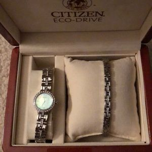 Citizens watch and bracelet